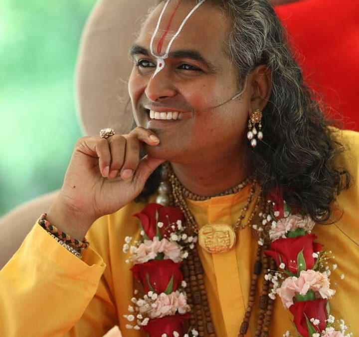 Devotee initiatie door Paramahamsa Vishwananda